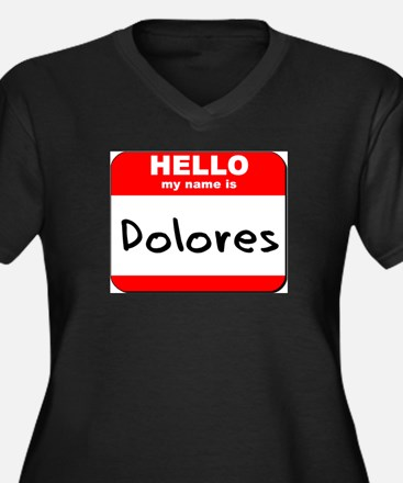 Hello my name is Dolores Women's Plus Size V-Neck