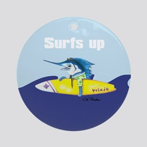 Surf's Up Ornament (Round)
