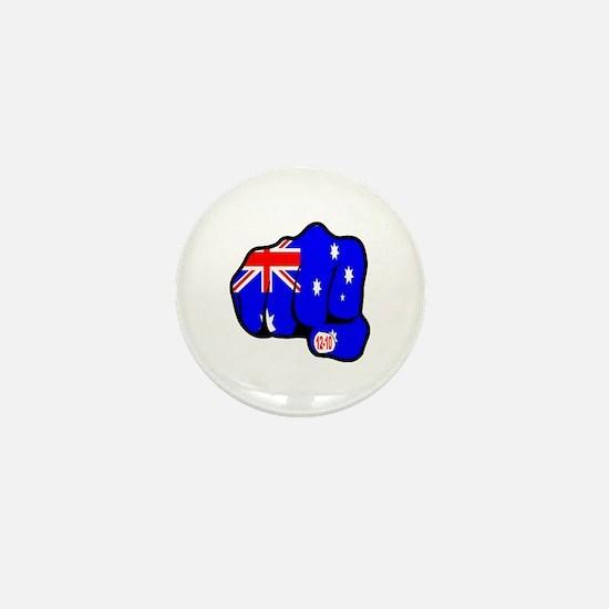 Bali Suicide Bombing Australian Fist Mini Button