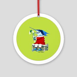 Sailfish candy cane Ornament (Round)