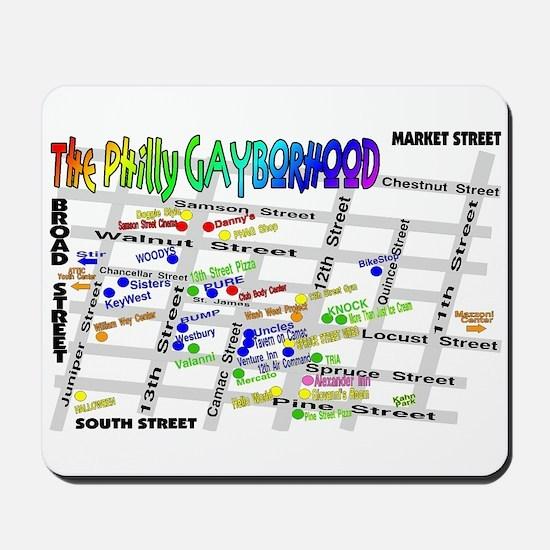 philly gayborhood Mousepad