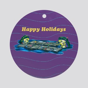 Dolphin Lights Ornament (Round)