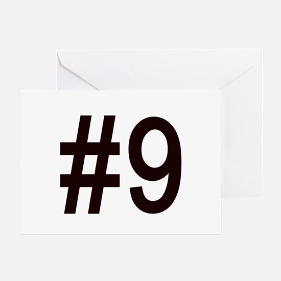 #9 birth order baby number nine Greeting Card