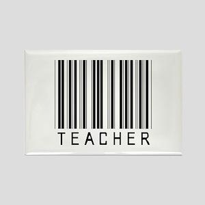 Teacher Barcode Rectangle Magnet