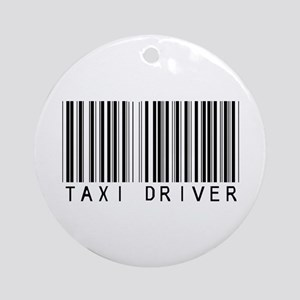 Taxi Driver Barcode Ornament (Round)
