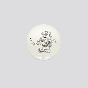 Catoons trumpet cat Mini Button