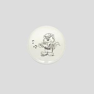 Catoons trumpet cat Mini Button