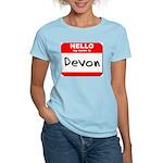 Hello my name is Devon Women's Light T-Shirt
