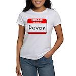 Hello my name is Devon Women's T-Shirt