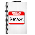 Hello my name is Devon Journal