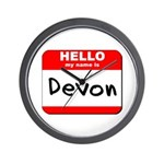 Hello my name is Devon Wall Clock