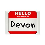 Hello my name is Devon Rectangle Magnet (10 pack)