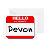 Hello my name is Devon Greeting Cards (Pk of 10)
