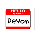 Hello my name is Devon Postcards (Package of 8)