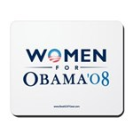 """Women for Obama"" Mousepad"