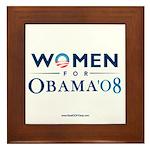 """""""Women for Obama"""" Framed Tile"""