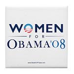 """Women for Obama"" Tile Coaster"