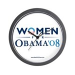 """Women for Obama"" Wall Clock"