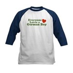 Everyone Loves a German Boy Kids Baseball Jersey