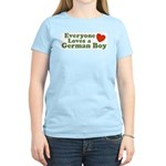 Everyone Loves a German Boy Women's Pink T-Shirt
