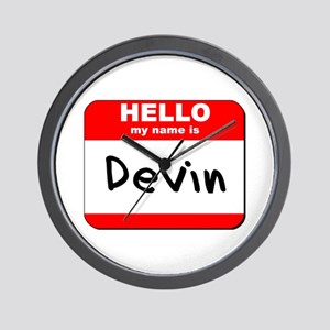 Hello my name is Devin Wall Clock