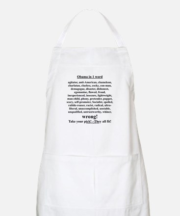 """""""Obama in 1 Word"""" BBQ Apron"""