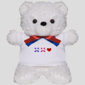 Love Skulls Teddy Bear