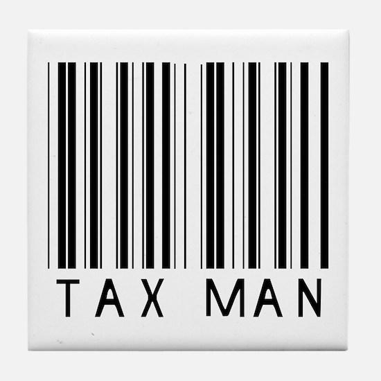 Tax Man Barcode Tile Coaster
