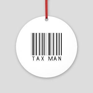 Tax Man Barcode Ornament (Round)