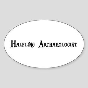 Halfling Archaeologist Oval Sticker