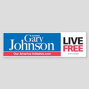 LIVE FREE Gary Johnson Bumper Sticker