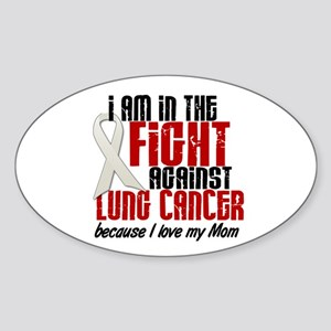 In The Fight 1 LC (Mom) Oval Sticker
