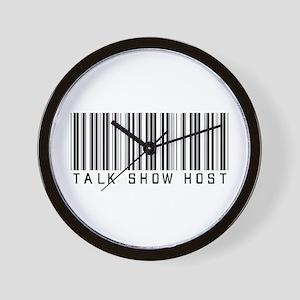 Talk Show Host Barcode Wall Clock