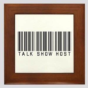 Talk Show Host Barcode Framed Tile