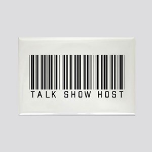 Talk Show Host Barcode Rectangle Magnet