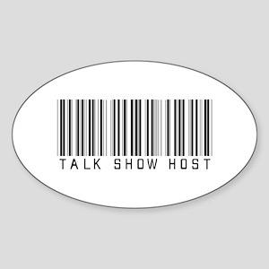 Talk Show Host Barcode Oval Sticker