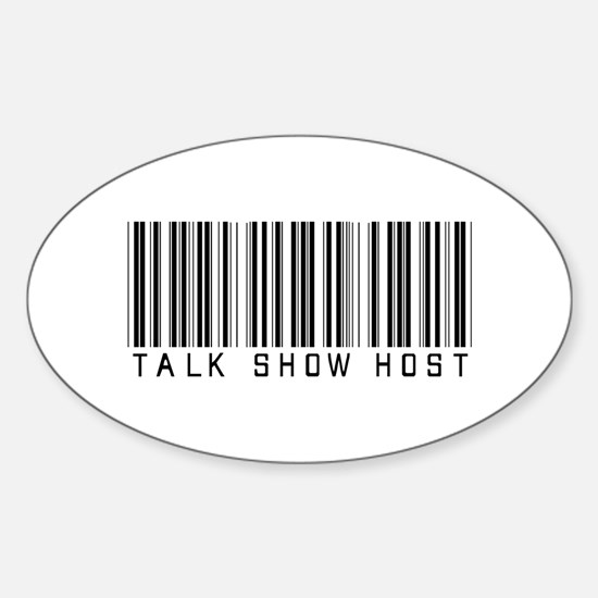 Talk Show Host Barcode Oval Decal