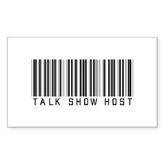 Talk Show Host Barcode Rectangle Decal