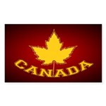 Canada Souvenir Varsity Sticker (Rectangle 10 pk)