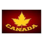 Canada Souvenir Varsity Sticker (Rectangle 10 pk)