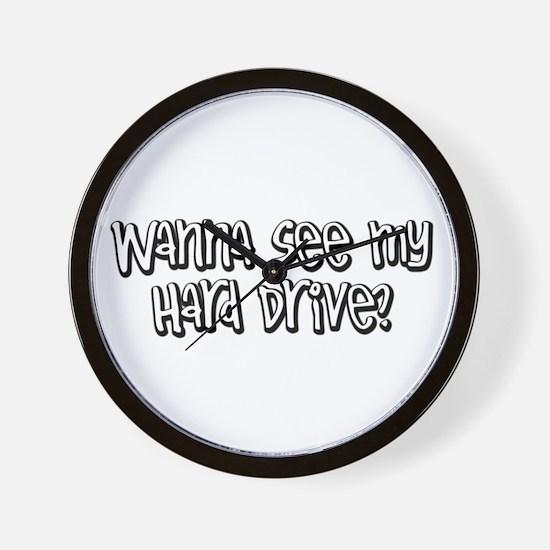 wanna see my hard drive? Wall Clock