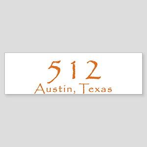 512 Austin Texas Area Code T-Shirt Bumper Sticker