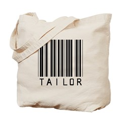 Tailor Barcode Tote Bag