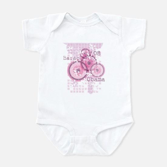 Pink Grunge Barack Obama '08 Infant Bodysuit