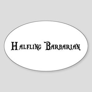 Halfling Barbarian Oval Sticker