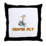 Semper Fly Throw Pillow