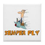 Semper Fly Tile Coaster