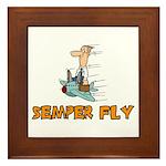 Semper Fly Framed Tile