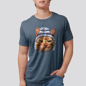 Cat Kitty Kitten In Clothes Yellow Glasses T-Shirt