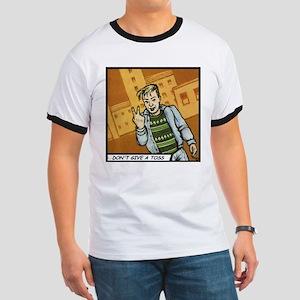'DON'T GIVE A TOSS' Ringer T-Shirt +Backprint